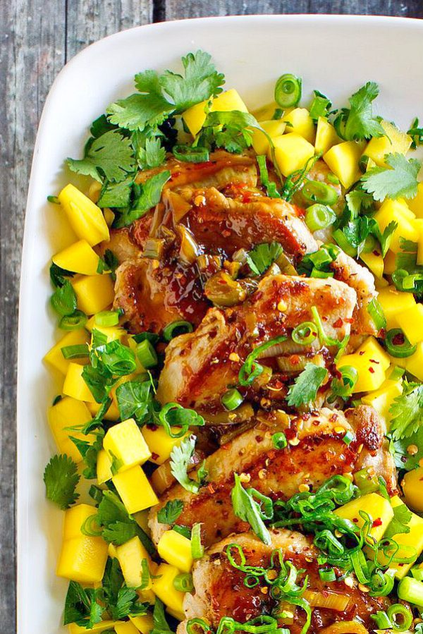 Pork Tenderloin with Mango Lime Salsa