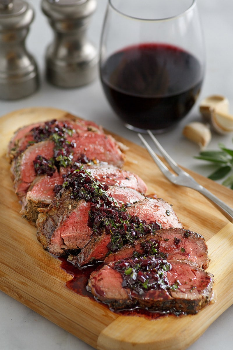 sliced Roasted Beef Tenderloin