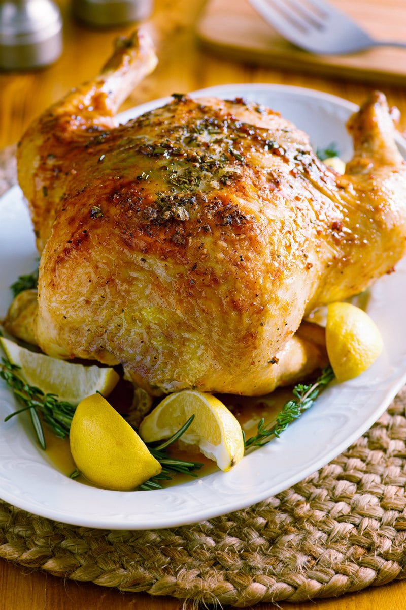 Roasted Chicken with Lemon Curd