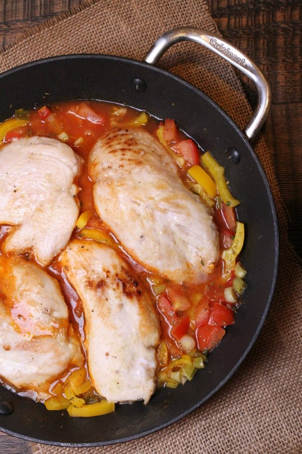 cooking Sauteed Chicken with Tangy Tomato Sauce