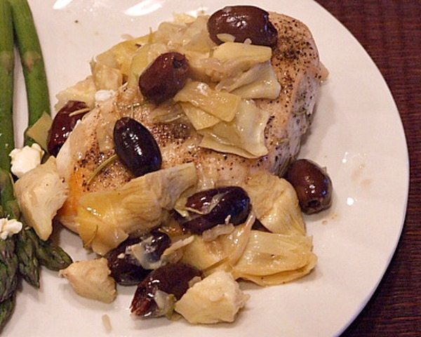 Sauteed Chicken Breasts with Artichokes and Olives