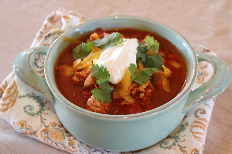 Bowl of Spicy Turkey Chili