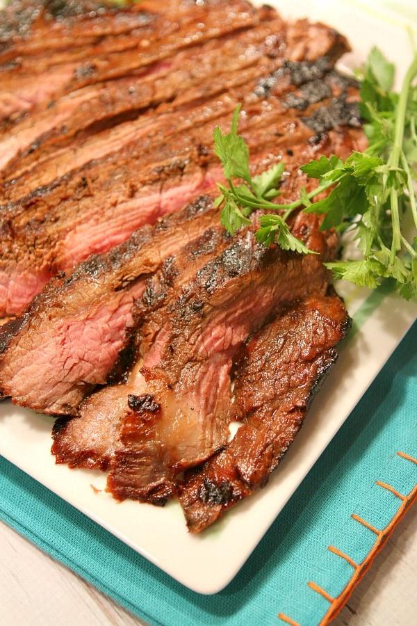 Teriyaki Flank Steak Recipe from RecipeGirl.com