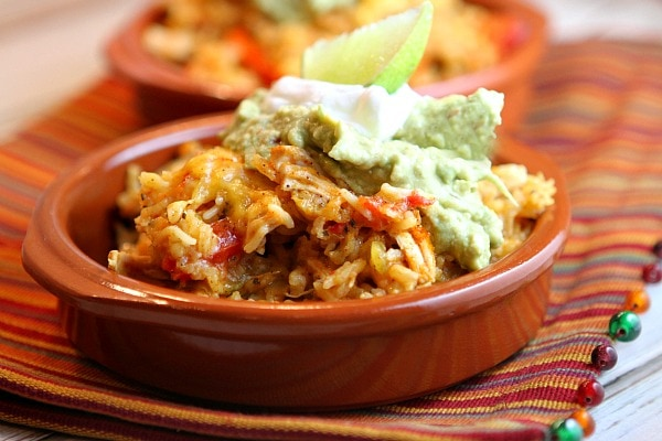 Tex Mex Chicken and Rice Casserole