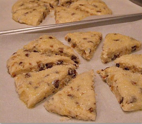 Making Chocolate Chip Toffee Scones