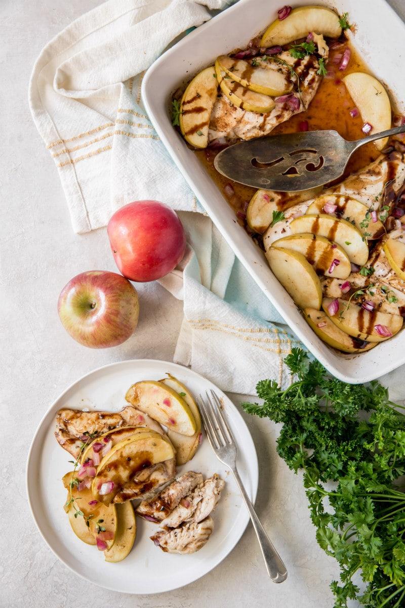 serving Apple Thyme Chicken