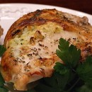 baked chicken stuffed with zucchini and goat cheese