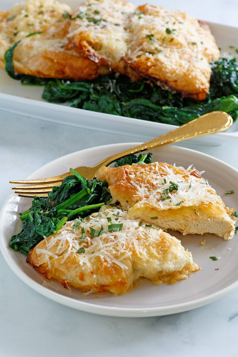 Eating Chicken Breasts in Phyllo