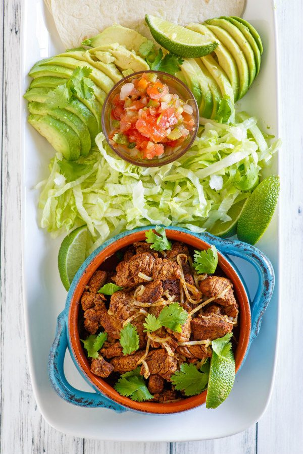 pork tacos with fixings