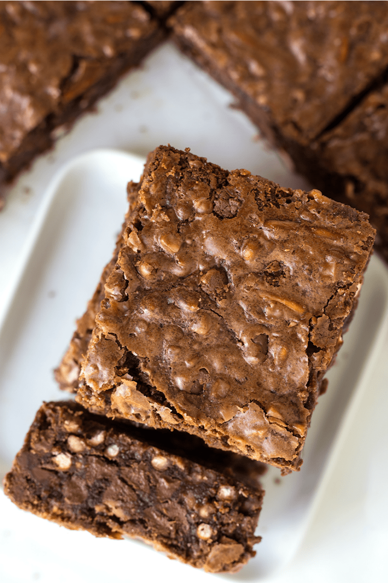 Pretzel Toffee Chip Brownies