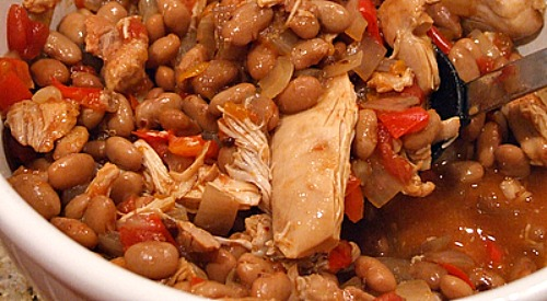 Slow Cooker Tex Mex Chicken and Beans recipe from RecipeGirl.com