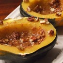 Acorn Squash Halves with Orange Pecans