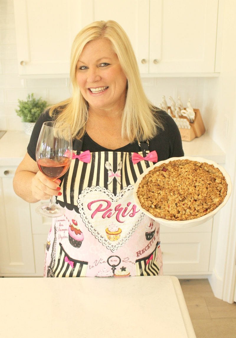 RecipeGirl with an Apple Cranberry Pie