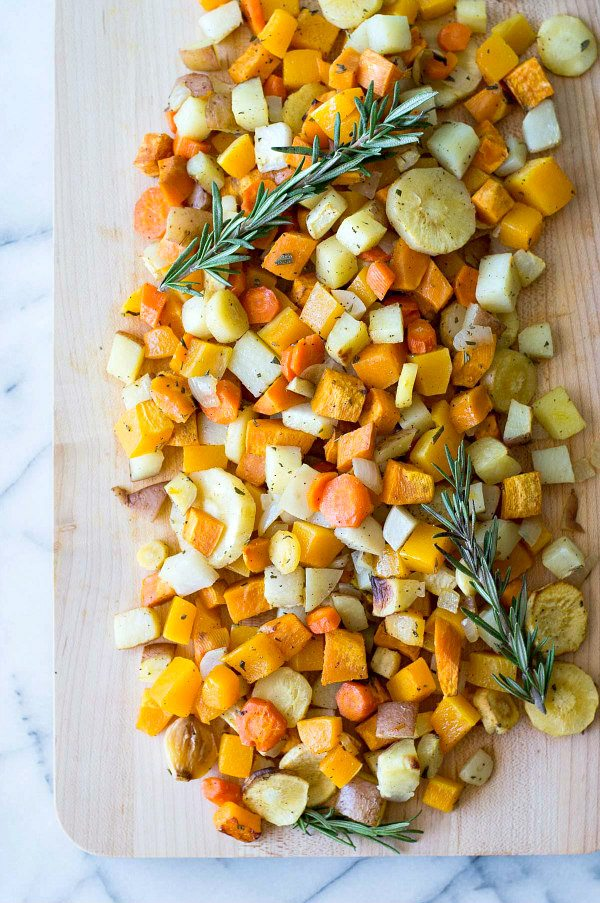 Roasted Autumn Vegetables recipe - from RecipeGirl.com