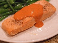 Cold Poached Salmon with Provencal Mustard