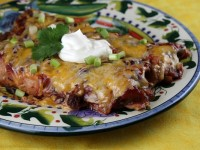 Cranberry Turkey Enchiladas