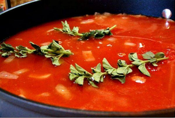 Tomato soup for Eyeball Soup!