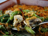 Fresh Green Bean Casserole with Caramelized Onions and Crispy Breadcrumbs