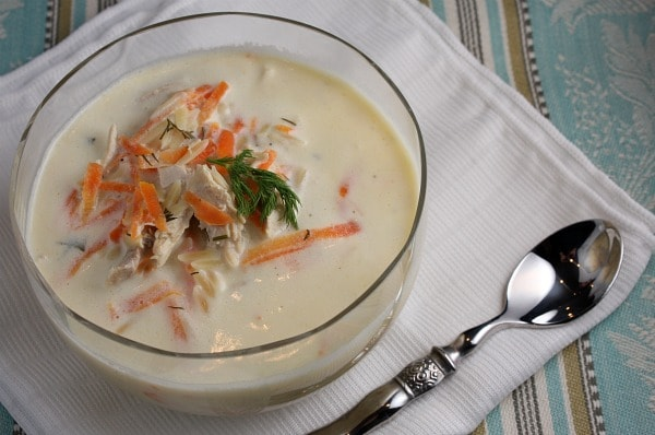 Greek Lemon Chicken Orzo Soup - Recipe Girl