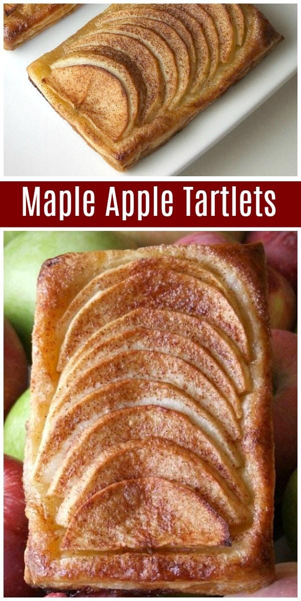 Maple Apple Tartlets recipe from RecipeGirl.com #maple #apple #fall #dessert #recipe #RecipeGirl