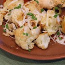 Oven Roasted Cauliflower with Garlic Olive oil and lemon juice