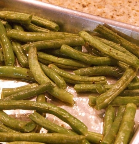 Oven- Roasted Green Beans
