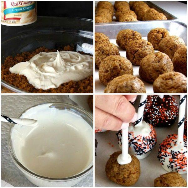 How do you make Pumpkin Cake Pops?