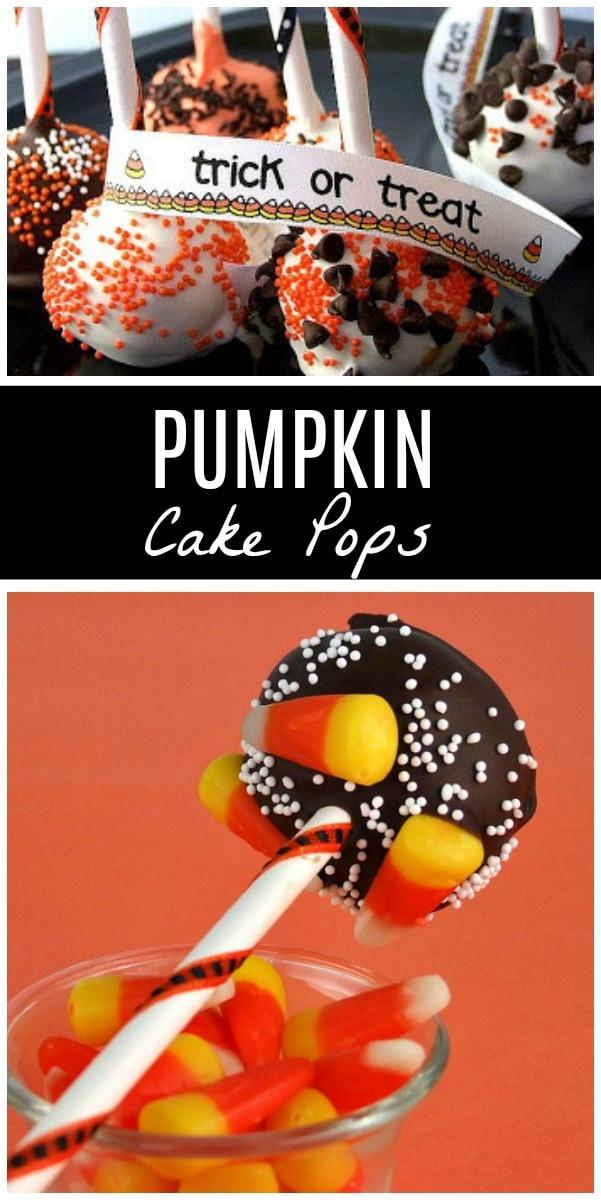Pumpkin Cake Pops recipe from RecipeGirl.com #pumpkin #cake #pops #cakepops #recipe #RecipeGirl