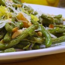 Roasted Green Beans with Lemon, Pine Nuts and Parmesan