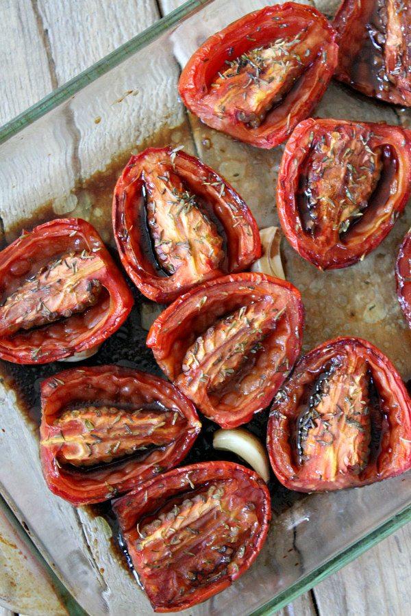 Slow Roasted Plum Tomatoes recipe - from RecipeGirl.com