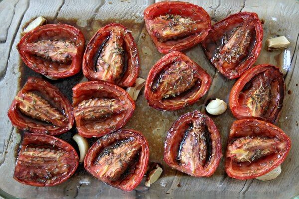 Slow Roasted Plum Tomatoes recipe - from RecipeGirl.com
