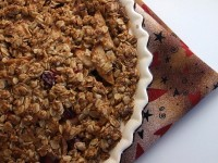 apple cranberry pie w oatmeal crust