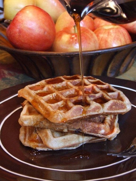 ... of these buttery waffles, along with a good dose of pumpkin pie spice