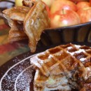 spiced apple buttermilk waffles 2