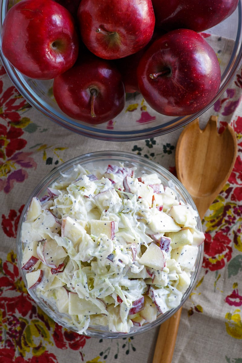 Bowl of Apple Cole Slaw