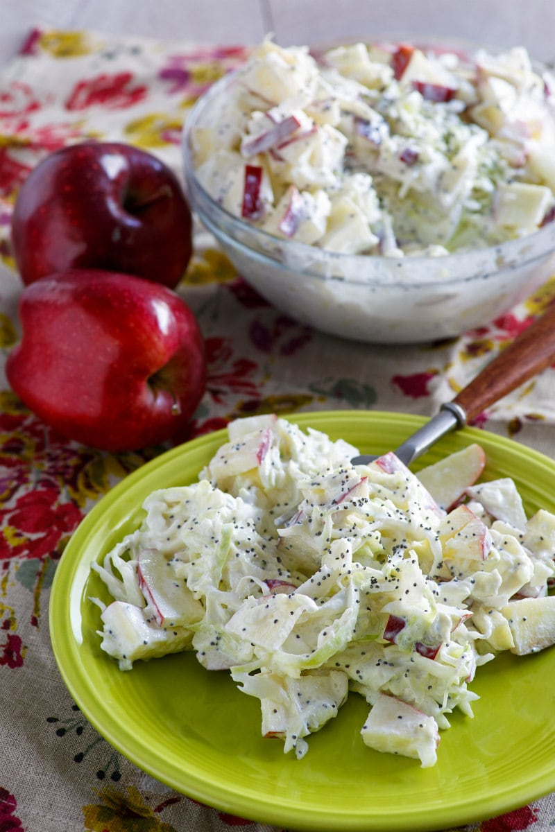 Serving of Apple Cole Slaw