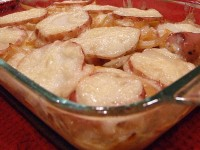 Beer Baked Scalloped Potatoes
