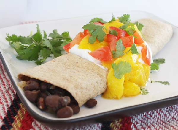 Black Bean Mango Burritos Recipe Girl