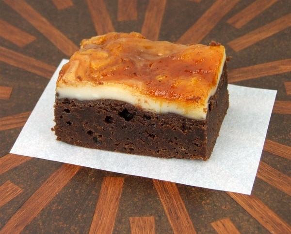 The Recipe Girl: Cheesecake- Topped Brownies with Pumpkin Butter Swirl