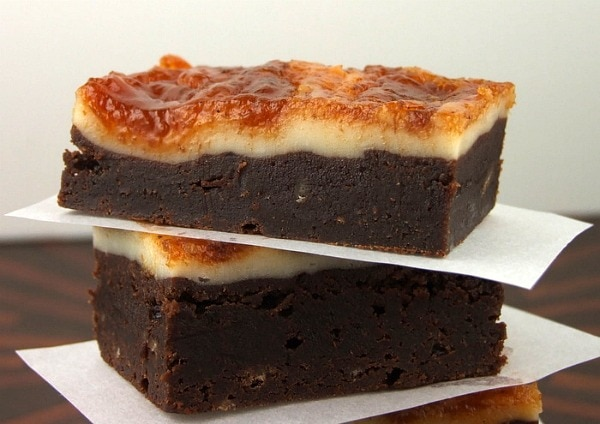 Cheesecake- Topped Brownies with Pumpkin Butter Swirl