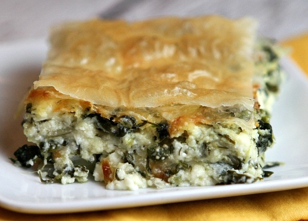 Greek Spinach Pie Recipe from RecipeGirl.com