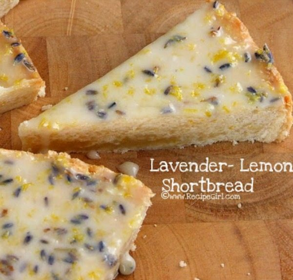 Lemon Shortbread with Lemony Lavender Icing