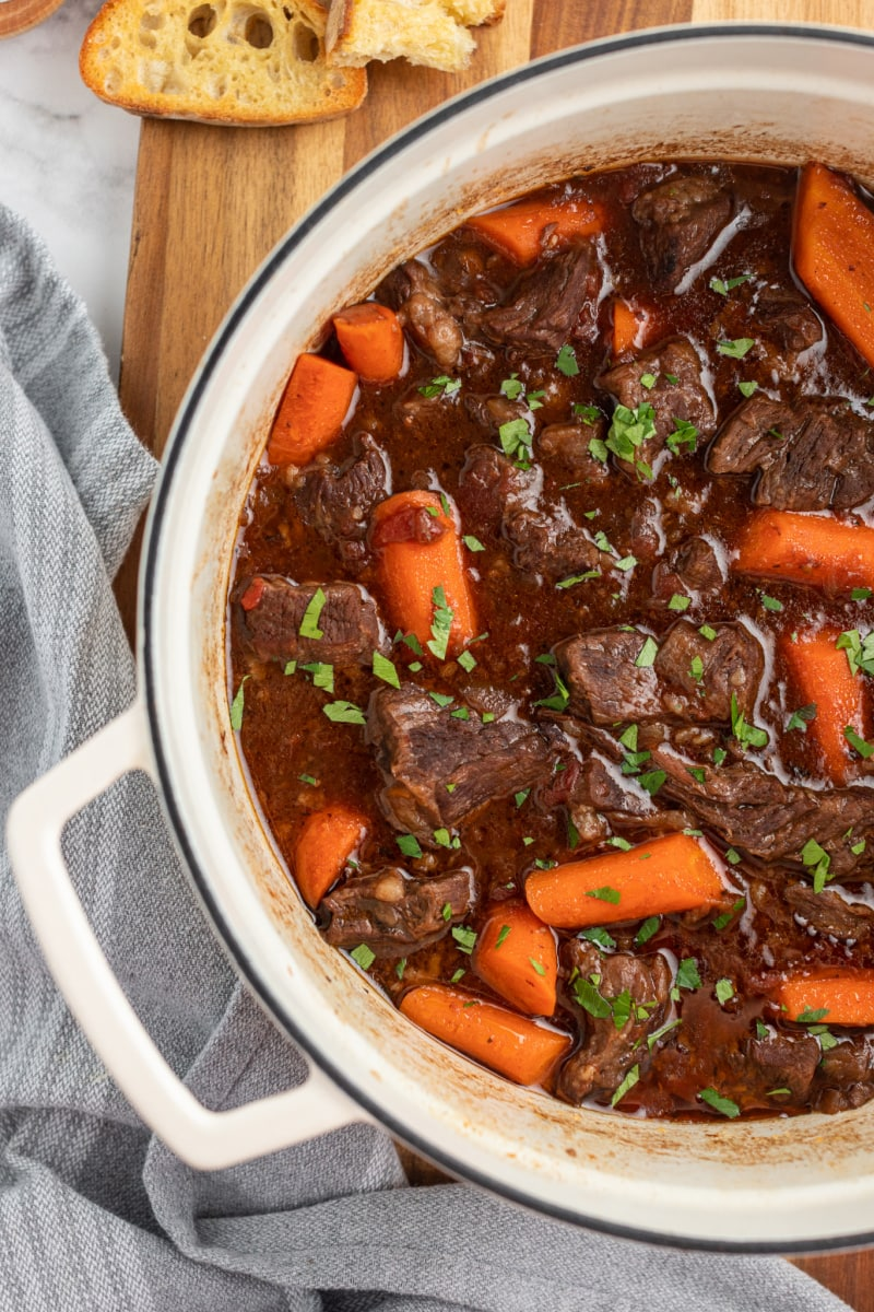 pot of beef stew