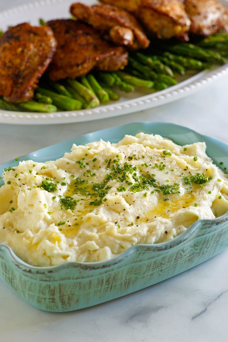 Make Ahead Mashed Potatoes with dinner