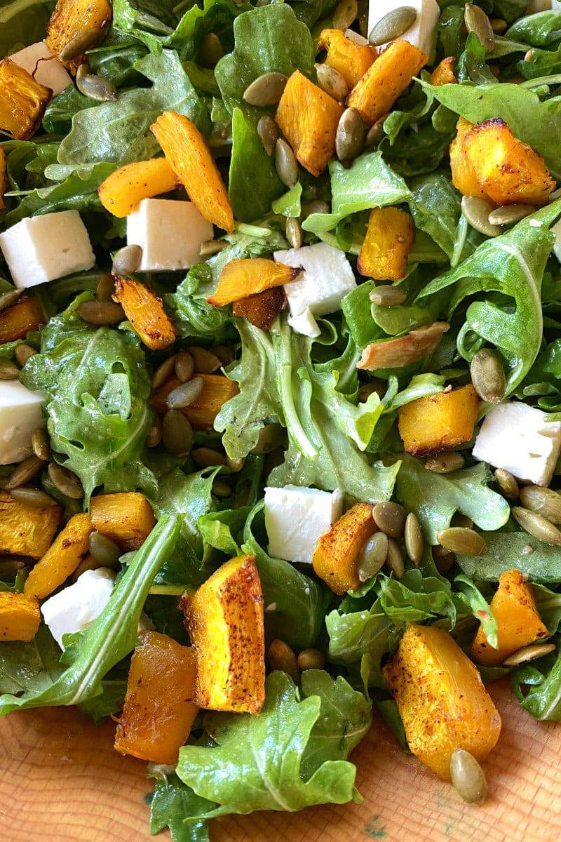 maple roasted pumpkin salad