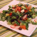 Mexican Chopped Salad with Honey Lim