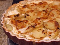 Potato- Leek Gratin with Vermont Cheddar