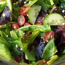 Simplest Greek Salad with Lemon Oregano Vinaigrette