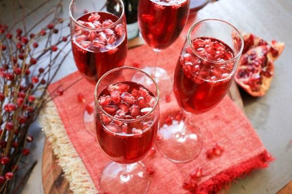 Sparkling Pomegranate Cocktails