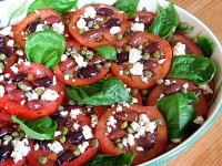 Tomato Caper Olive & Blue Cheese Salad